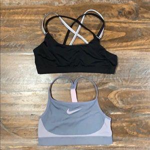 Nike and Champion Girls sports bras size M/L